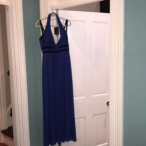 """BCBG """"Margarette"""" royal blue halter dress"""